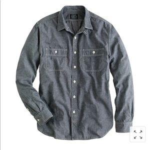 Grey Chambray Utility Shirt